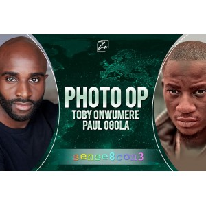 Paul Ogola y Toby Onwumere Photo Op